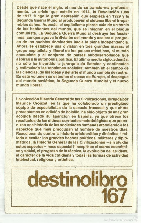 Libros de segunda mano: LA ÉPOCA CONTEMPORÁNEA. EDICIONES DESTINO. BARCELONA. 1961 - Foto 2 - 58293382