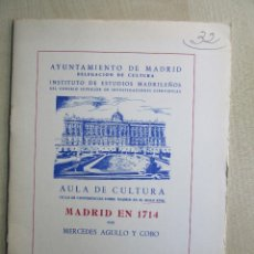 Libros de segunda mano: MADRID EN 1714 MERCEDES AGULLO Y COBO. Lote 59588471