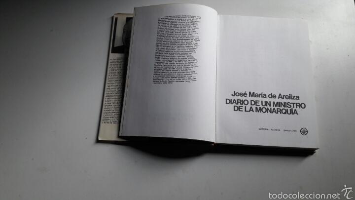 Libros de segunda mano: DIARIO DE UN MINISTRO DE LA MONARQUIA...JOSE MARIA DE AREILZA..1977. - Foto 2 - 60841233