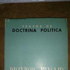 Libros de segunda mano: DIRCURSOS Y MENSAJES DEL JEFE DEL ESTADO 1964-1967. Lote 67468431