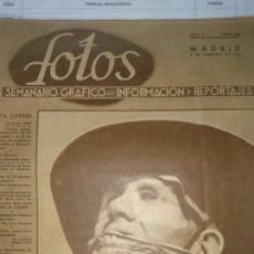 Libros de segunda mano: REVISTA FOTOS 8 FEBRERO 1941. Lote 72727627