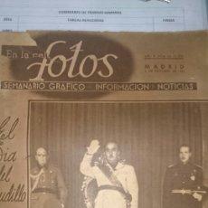 Libros de segunda mano: REVISTA FOTOS 4 OCTUBRE 1941. Lote 72727891