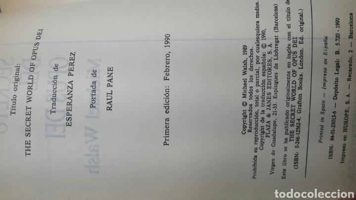 Libros de segunda mano: Libro El Mundo Secreto del Opus Dei Michael Walsh 1990 - Foto 2 - 74100879