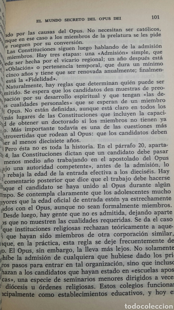 Libros de segunda mano: Libro El Mundo Secreto del Opus Dei Michael Walsh 1990 - Foto 3 - 74100879