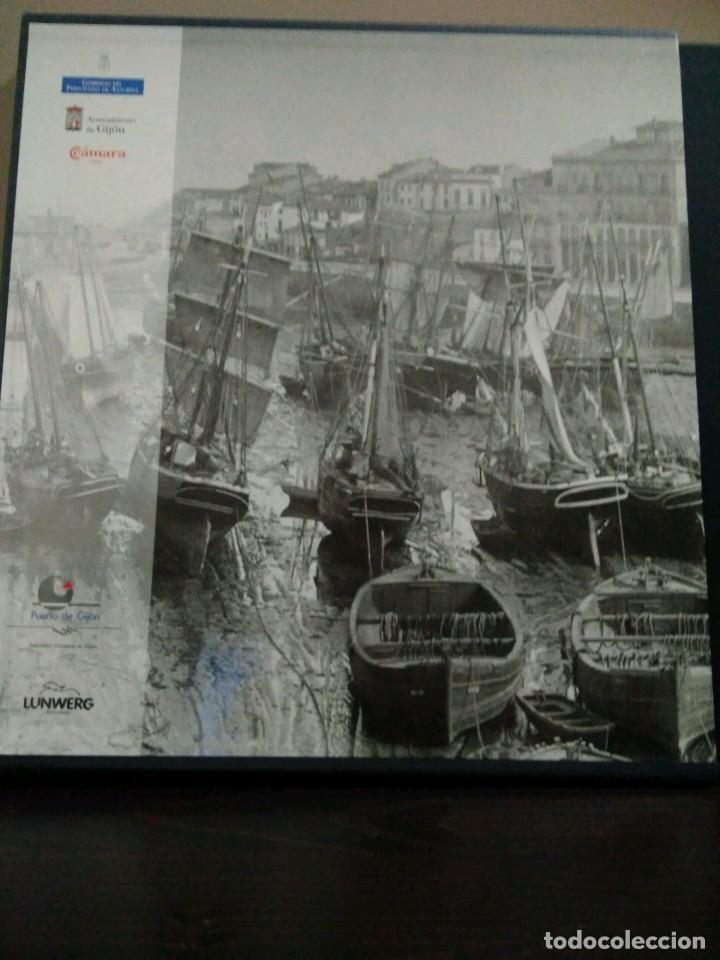 Libros de segunda mano: GIJON VISION Y MEMORIA PORTUARIA/ CON ESTUCHE - Foto 2 - 74249635