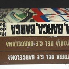 Libros de segunda mano: 5112-2 - HISTORIA DEL C. F. BARCELONA. 3 VOLUM(VER DESCRIP). EDIT. ENC. VASCA. 1971/1974.. Lote 74966175