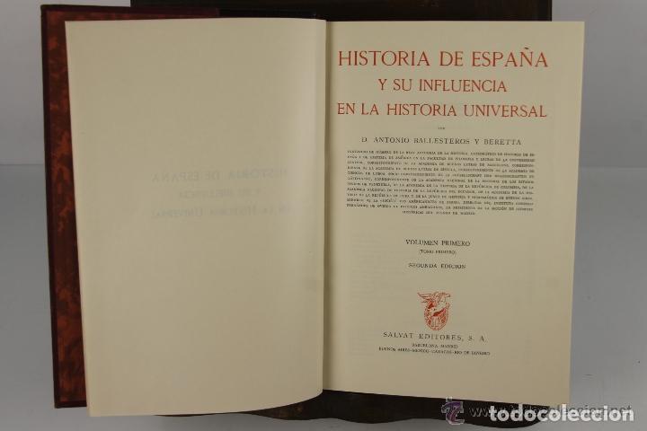 4525- HISTORIA DE ESPAÑA Y SU INFLUENCIA EN LA HISTORIA UNIVERSAL. EDIT. SALVAT. VV.AA. 1943. 12 VOL (Libros de Segunda Mano - Historia Moderna)