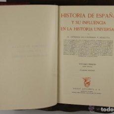Libros de segunda mano: 4525- HISTORIA DE ESPAÑA Y SU INFLUENCIA EN LA HISTORIA UNIVERSAL. EDIT. SALVAT. VV.AA. 1943. 12 VOL. Lote 41566374