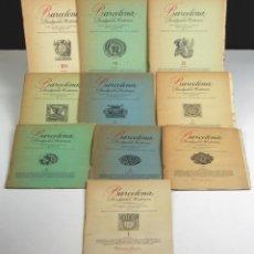 Libros de segunda mano: 5282-2 - BARCELONA DIVULGACIÓN HISTORICA. 10 EJEM(VER DESCRIP). EDIC. AYMÁ. 1944/45.. Lote 75486955