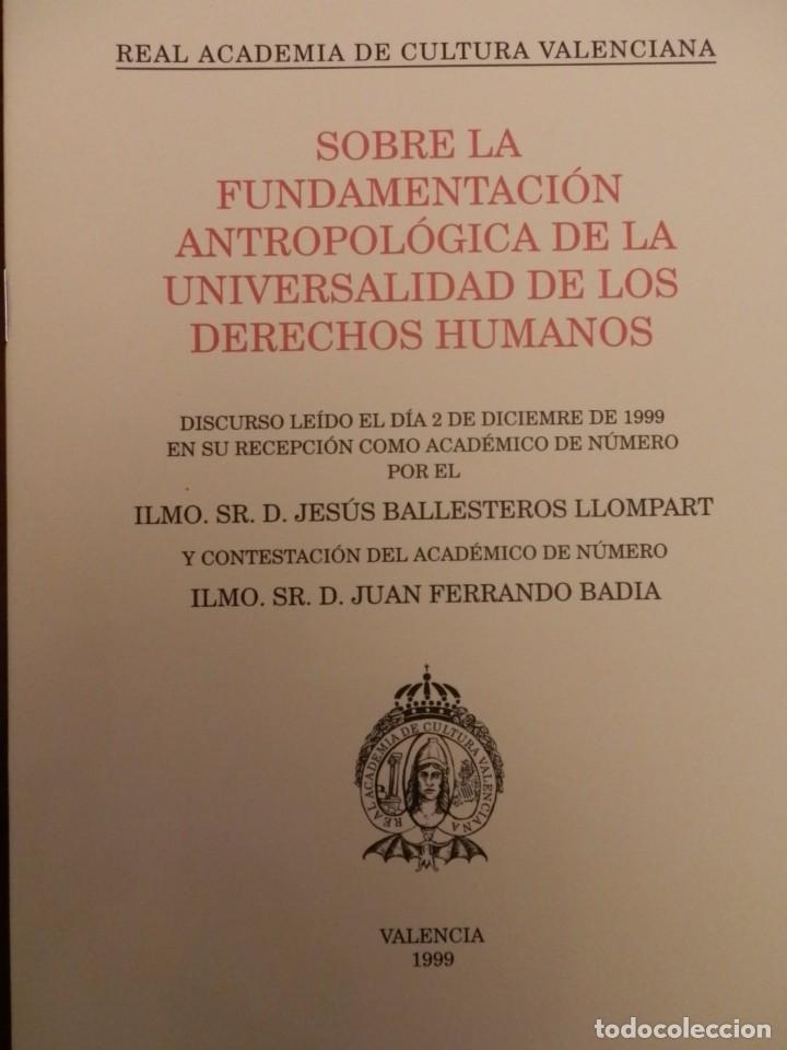 Libros de segunda mano: REAL ACADEMIA DE CULTURA VALENCIANA. 13 libros PRESENTACIONES DISCURSOS,VER IMAGENES - Foto 4 - 76903959