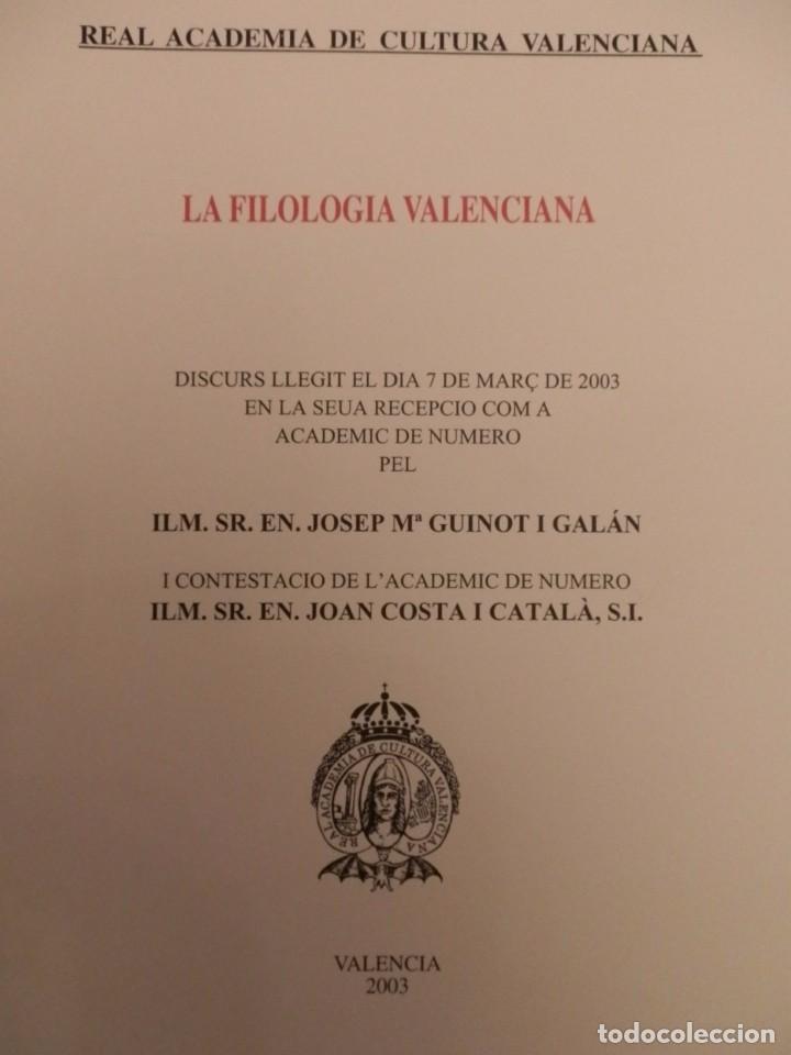 Libros de segunda mano: REAL ACADEMIA DE CULTURA VALENCIANA. 13 libros PRESENTACIONES DISCURSOS,VER IMAGENES - Foto 6 - 76903959