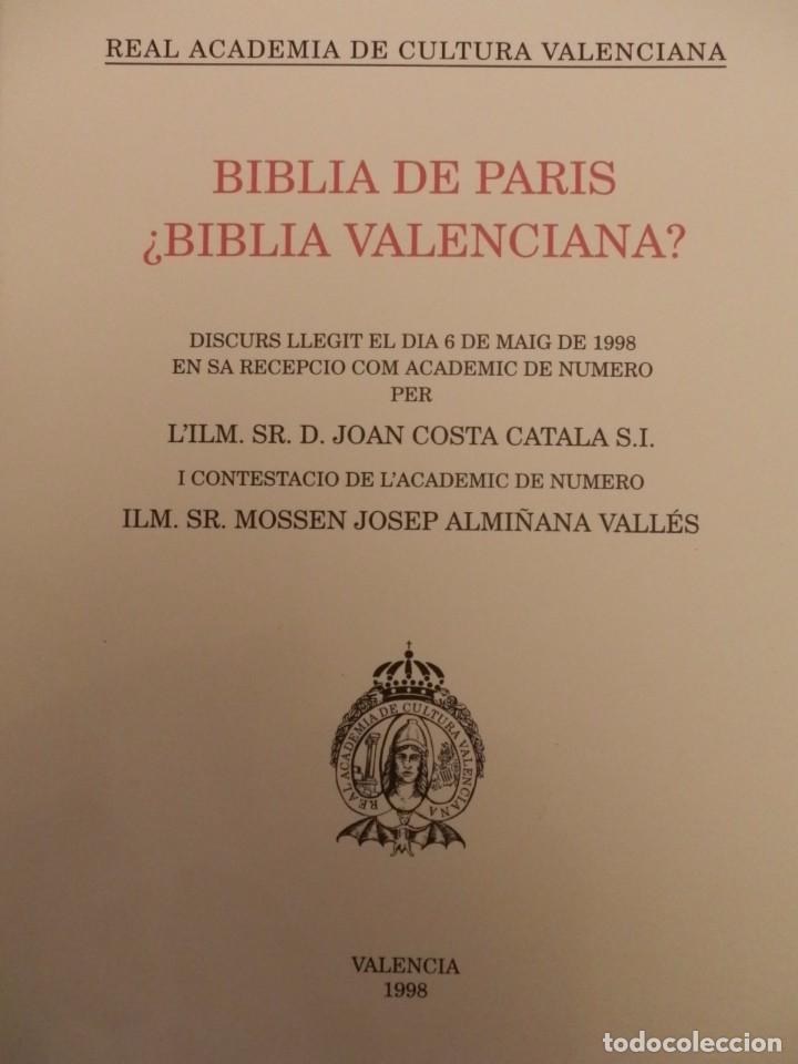 Libros de segunda mano: REAL ACADEMIA DE CULTURA VALENCIANA. 13 libros PRESENTACIONES DISCURSOS,VER IMAGENES - Foto 7 - 76903959