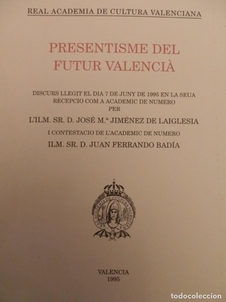 Libros de segunda mano: REAL ACADEMIA DE CULTURA VALENCIANA. 13 libros PRESENTACIONES DISCURSOS,VER IMAGENES - Foto 8 - 76903959