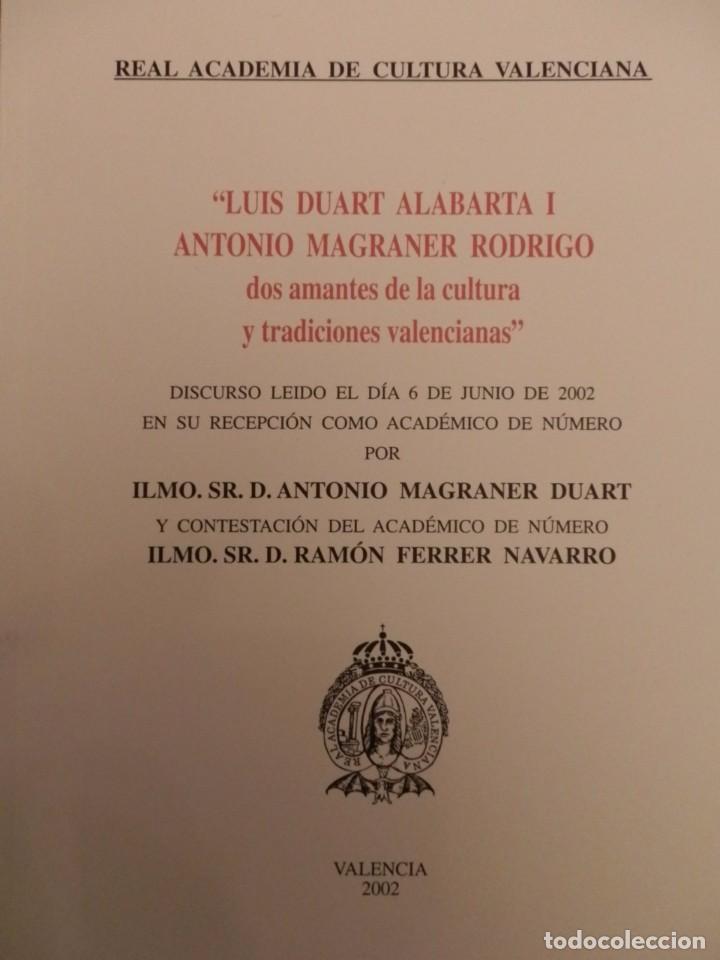Libros de segunda mano: REAL ACADEMIA DE CULTURA VALENCIANA. 13 libros PRESENTACIONES DISCURSOS,VER IMAGENES - Foto 12 - 76903959