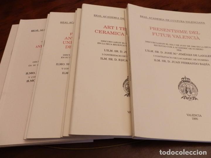 Libros de segunda mano: REAL ACADEMIA DE CULTURA VALENCIANA. 13 libros PRESENTACIONES DISCURSOS,VER IMAGENES - Foto 15 - 76903959
