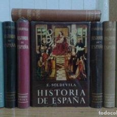 Libros de segunda mano: HISTORIA DE ESPAÑA, F SOLDEVILA, 1959 ARIEL, 8 TOMOS COMPLETO. Lote 81659240