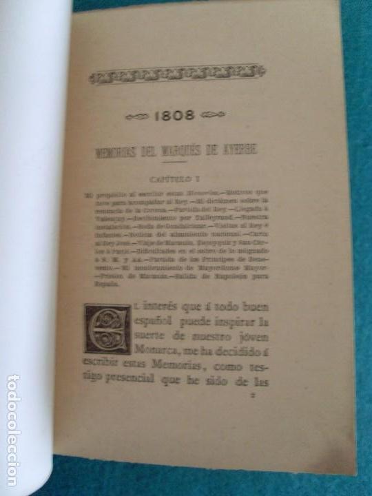 Libros de segunda mano: MEMORIAS DEL MARQUÉS DE AYERBE SOBRE LA ESTANCIA DE D. FERNANDO VII EN VALENCAY / 1893 - Foto 9 - 83579656