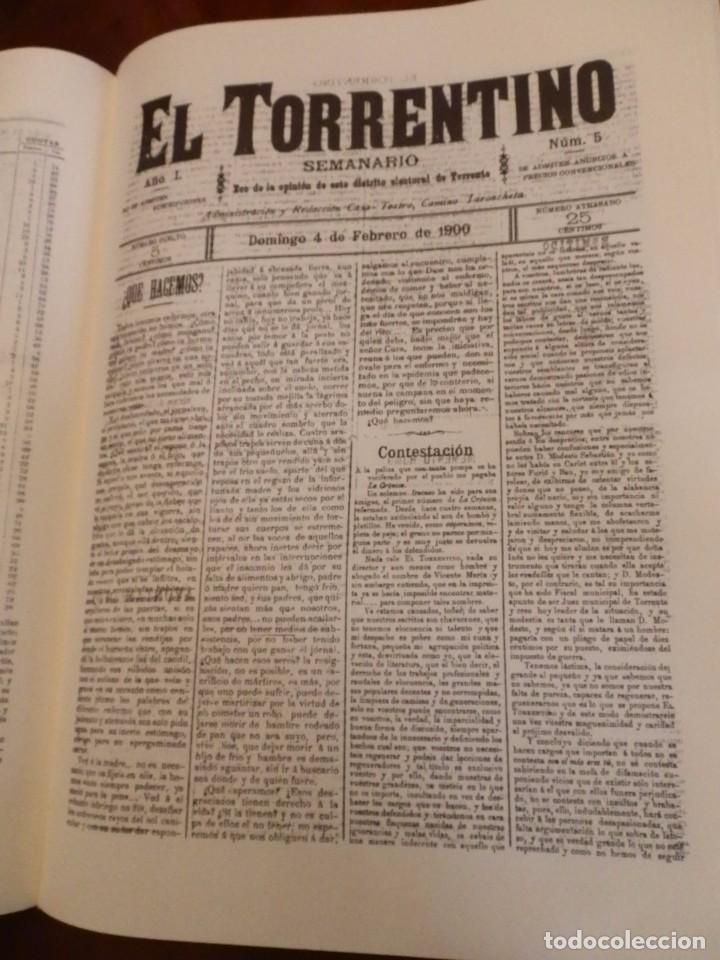 Libros de segunda mano: TORRENT Y LA SEUA PREMSA ENTRE DOS SEGLES 1890-1910,+500 PP, GRAN FORMATO 35X47 - Foto 9 - 84503372