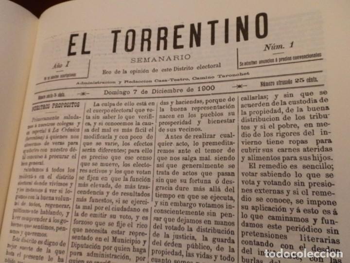 Libros de segunda mano: TORRENT Y LA SEUA PREMSA ENTRE DOS SEGLES 1890-1910,+500 PP, GRAN FORMATO 35X47 - Foto 10 - 84503372