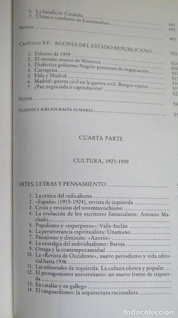 Libros de segunda mano: LA CRISIS DEL ESTADO: DICTADURA, REPUBLICA, GUERRA. 1923--1939 - Foto 10 - 85235208