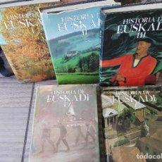 Libros de segunda mano: COLECCION 5 LIBROS TOMOS HISTORIA DE EUSKADI. Lote 85909580