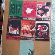 Libros de segunda mano: MILITAR - 7 LIBROS DE TEMAS ESPAÑOLES - REPUBLICA - ANARQUISMO - DIFERENTES TITULOS - VER FOTOS. Lote 87462120