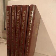 Libros de segunda mano: 5 TOMOS HISTORIA DE LA SEGUNDA REPUBLICA 1931-1939, EDITORIAL GINER , 1985. Lote 88919900