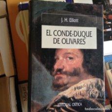 Libros de segunda mano: EL,CONDE DUQUE DE OLIVARES. J.H. ELLIOTT. Lote 89152120