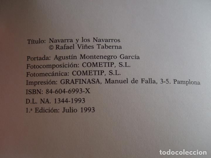 Libros de segunda mano: NAVARRA Y LOS NAVARROS - RAFAEL VIÑES TABERNA - 1993 - 295 PAGINAS - RUSTICA - Foto 3 - 91010965