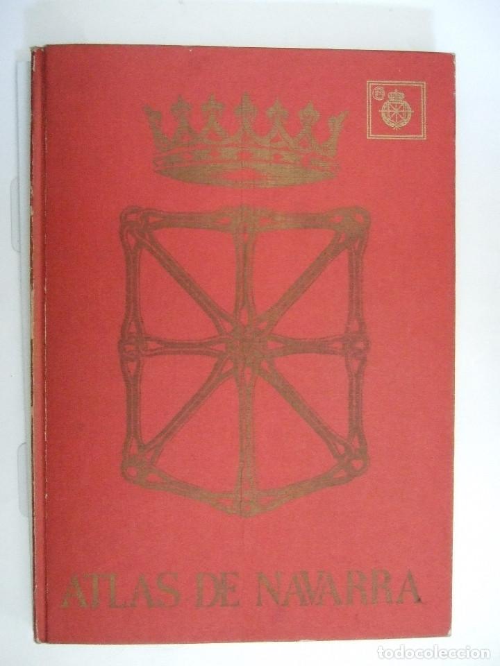 ATLAS DE NAVARRA - GEOGRAFICO ECONOMICO HISTORICO - 1977 - 76 PAGINAS - TAPAS DURAS (Libros de Segunda Mano - Historia Moderna)