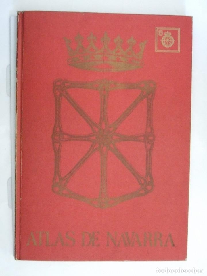 Libros de segunda mano: ATLAS DE NAVARRA - GEOGRAFICO ECONOMICO HISTORICO - 1977 - 76 PAGINAS - TAPAS DURAS - Foto 4 - 91119375