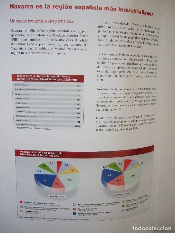 Libros de segunda mano: NAVARRA SERA EL ASOMBRO DEL MUNDO - INGLES Y CASTELLANO - SODENA - ESTUDIOS ECONOMICOS - Foto 2 - 91120410