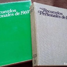 Libros de segunda mano: RECUERDOS PERSONALES DE 1969.. Lote 91639390