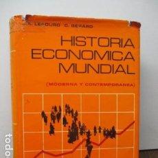 Libros de segunda mano: HISTORIA ECONÓMICA MUNDIAL. LEBOURD- GERARD - VINCENS VIVES. 520 PAGS. Lote 92232150
