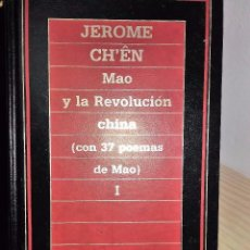 Libros de segunda mano: MAO Y LA REVOLUCIÓN CHINA * JEROME CH'ÊN, (2 VOLÚMENES). Lote 96092387