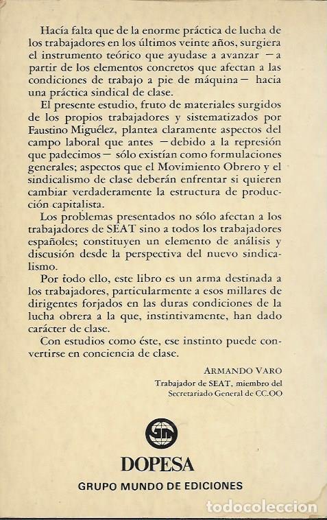 Libros de segunda mano: FAUSTINO MIGUELEZ LOBO SEAT LA EMPRESA MODELO DEL REGIMEN BARCELONA 1977 EDITORIAL DOPESA - Foto 2 - 96300427