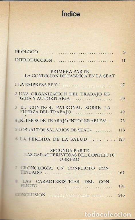 Libros de segunda mano: FAUSTINO MIGUELEZ LOBO SEAT LA EMPRESA MODELO DEL REGIMEN BARCELONA 1977 EDITORIAL DOPESA - Foto 3 - 96300427