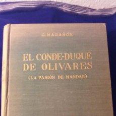 Libros de segunda mano: LIBRO EL CONDE-DUQUE DE OLIVARES. Lote 97178743