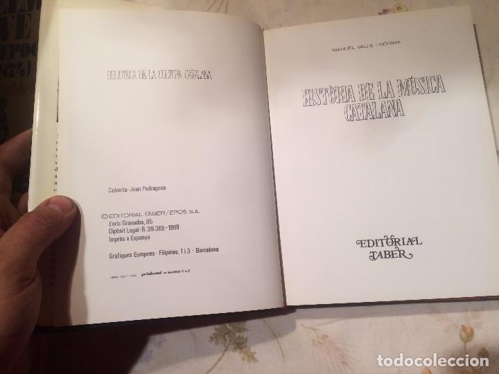 Libros de segunda mano: Antiguo libro història de la música Catalana escrito por Manuel Valls Gorina año 1969 - Foto 2 - 98225199