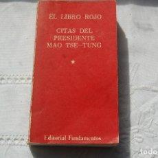 Libros de segunda mano: EL LIBRO ROJO. CITAS DEL PRESIDENTE MAO TSE-TUNG. 1976. 1º EDIC.. Lote 98875551