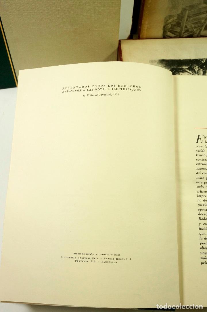 Libros de segunda mano: DON QUIJOTE DE LA MANCHA, CERVANTES, 1958, ED. JUVENTUD. 20x25,7cm - Foto 4 - 99510815