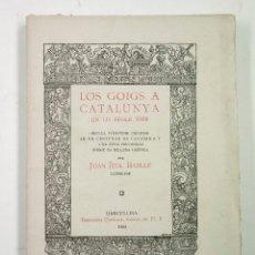 Libros de segunda mano: LOS GOIGS A CATALUNYA EN LO SEGLE XVIII, 1925, JOAN BTA. BATLLE, FIRMADO. 14,5X20CM. Lote 99598047