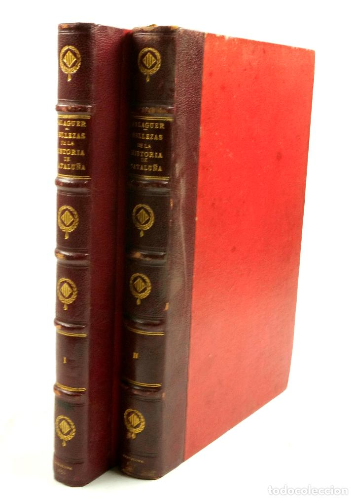 BELLEZAS DE LA HISTORIA DE CATALUÑA, 2.VOL, 1853, VICTOR BALAGUER. 20X28CM (Libros de Segunda Mano - Historia Moderna)