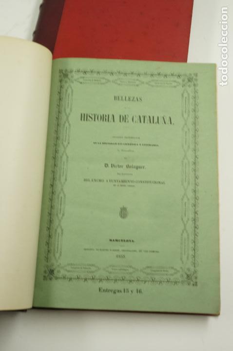 Libros de segunda mano: BELLEZAS DE LA HISTORIA DE CATALUÑA, 2.vol, 1853, VICTOR BALAGUER. 20x28cm - Foto 2 - 99644947