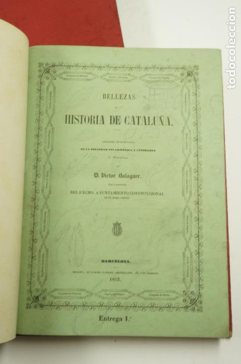 Libros de segunda mano: BELLEZAS DE LA HISTORIA DE CATALUÑA, 2.vol, 1853, VICTOR BALAGUER. 20x28cm - Foto 5 - 99644947