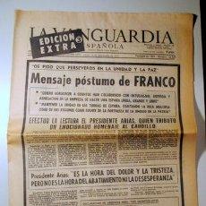 Libros de segunda mano: LA VANGUARDIA 20 DE NOVIEMBRE DE 1975 - EDICIÓN EXTRA 3 - MENSAJE PÓSTUMO DE FRANCO -BARCELONA 1975. Lote 100021095