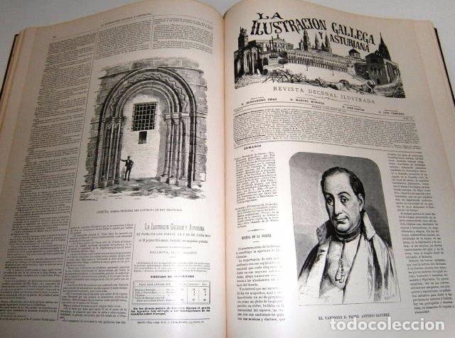 Libros de segunda mano: La Ilustración Gallega y Asturiana Tomo 1; Edición Facsímil de Ed. Silverio Cañada en Gijón 1979 - Foto 3 - 102833043