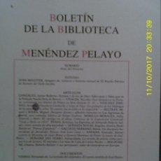 Libros de segunda mano: LIBRO Nº 1247 BOLETIN DE LA BIBLIOTECA DE MENENDEZ PELAYO. Lote 103155447