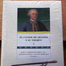 Libros de segunda mano: EL CONDE DE ARANDA Y SU TIEMPO 2 VOLS. (I.F.C. 2000) RETRACTILADO, NUEVO.. Lote 103817683
