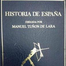 Libros de segunda mano: HISTORIA DE ESPAÑA MANUEL TUÑON DE LARA TOMO 1 INTRODUCCION PRIMERAS CULTURAS,HISPANIA ROMANA FN16. Lote 104239579